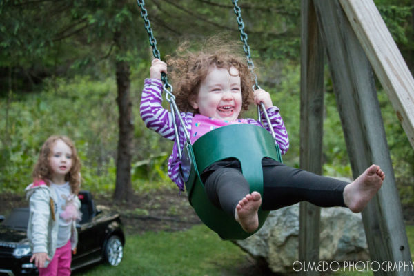 2 Year-old on a swing