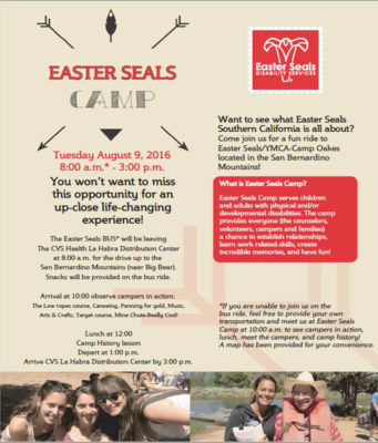 Easter Seals Camp Oakes Outreach